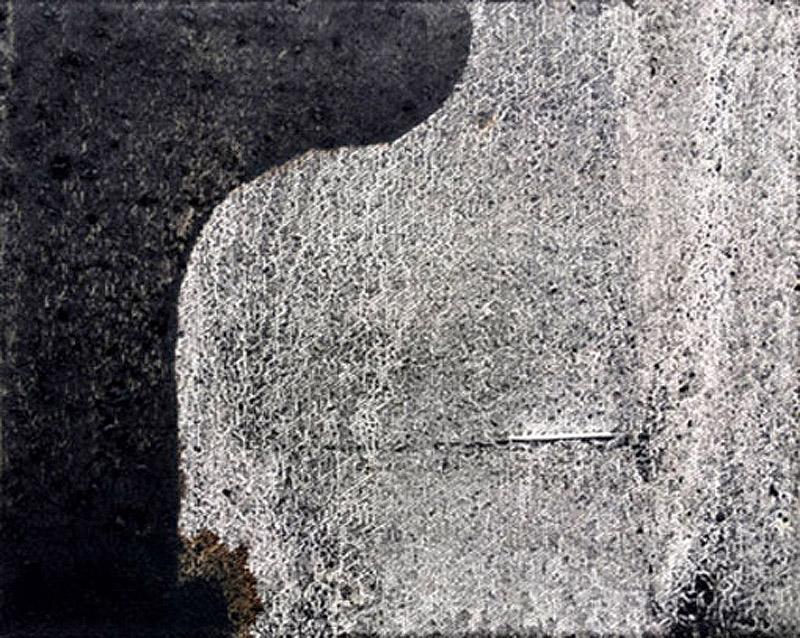 Untitled 3 // Ruß aus Erdöl in Eitempera auf Leinwand // 24 x 30 cm // 2018