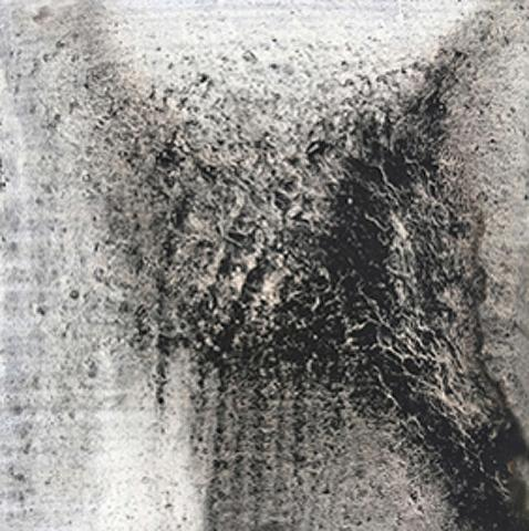 Untitled 7 // Ruß aus Erdöl auf Leinwand // 18 x 18 cm // 2018