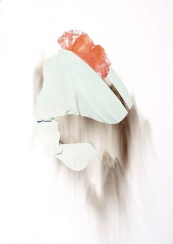 Fantôme Exceptionnel 6 // Collage mit Ruß // 30 x 21 cm // 2018