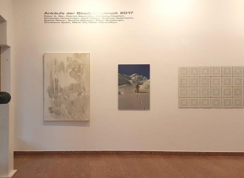 Ausstellungsansicht 1 // Kunstankäufe der Stadt Innsbruck 2017 // Galerie im Andechshof // 2017