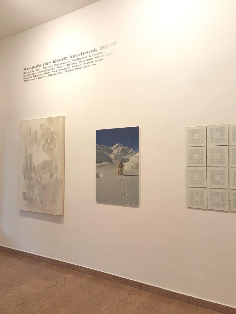 Ausstellungsansicht 2 // Kunstankäufe der Stadt Innsbruck 2017 // Galerie im Andechshof // 2017