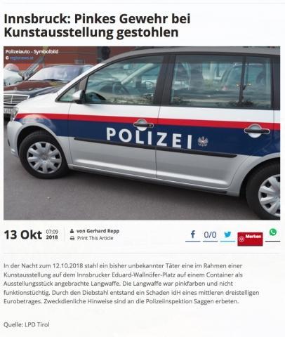 Antigone // Polizeibericht // 2018