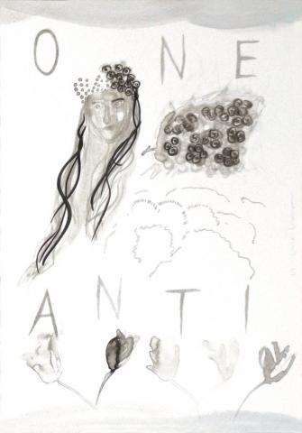 Antigone 2 // Tusche auf Papier // 50 x 35 cm // 2018