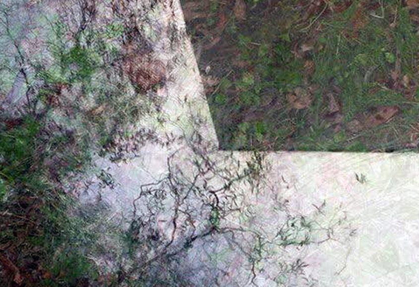 Installationsansicht 8 // Great Piece of Turf // Glasplatte // 73 x 300 cm // Urban spricht Kunst // 2013