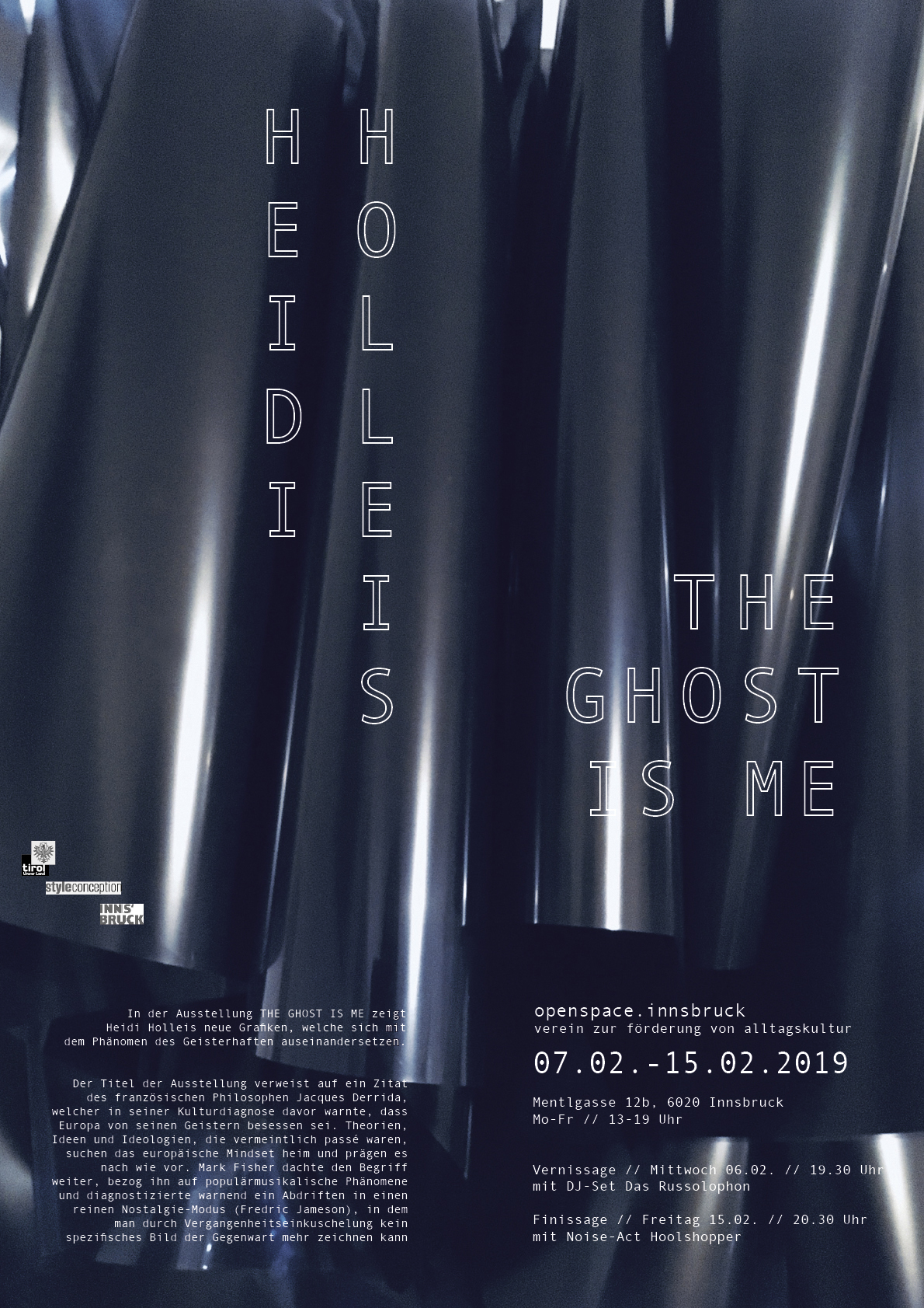 Plakat // The Ghost Is Me // Digitaldruck // A2 // 2019