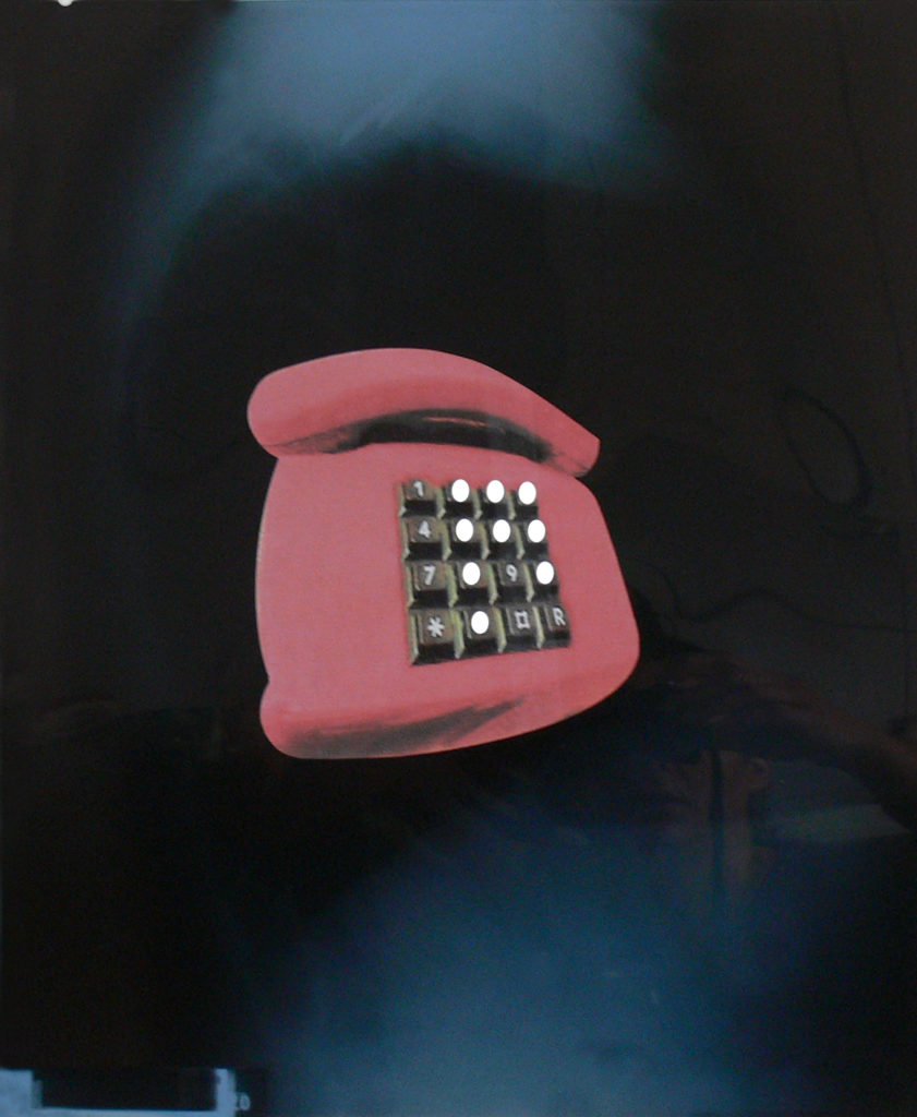 Past Phone // Röntgenbild auf Papier, Collage // 60 x 50 cm // 2019