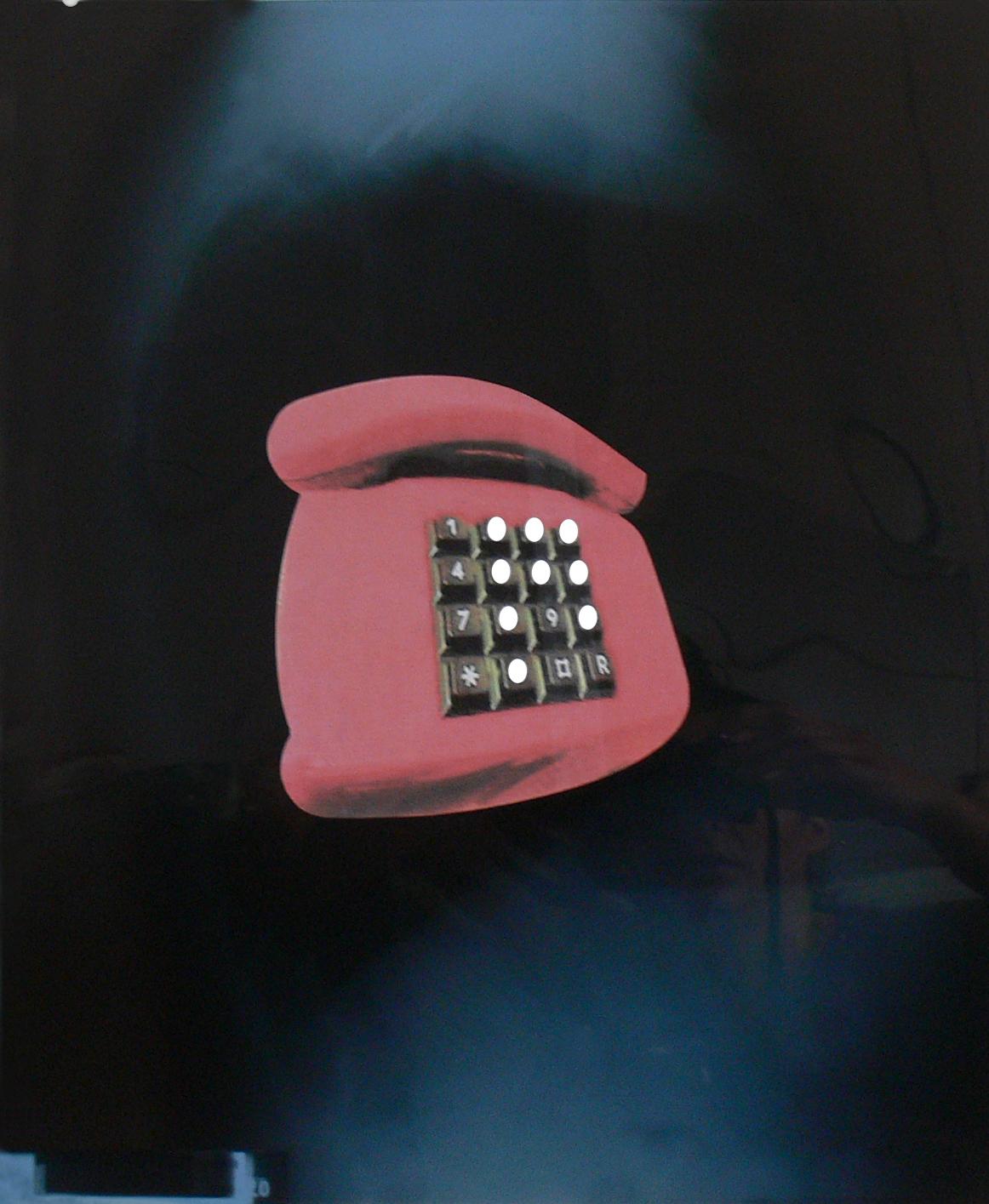 Past Phone // Röntgenbild auf Papier, Collage // 60 x 50 cm // 2019